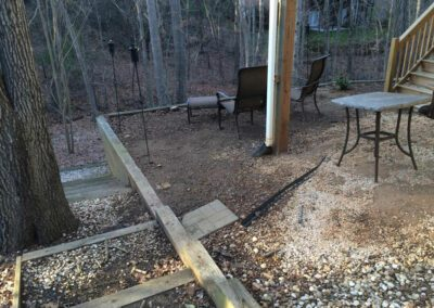 southern-greenscapes-tega-cay-retaining-wall-before